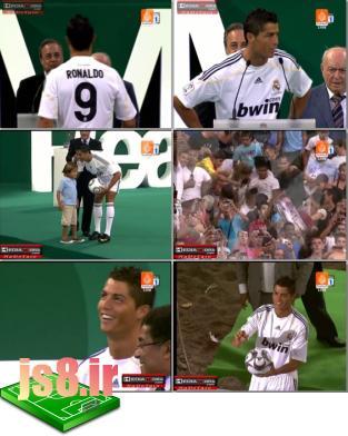 مراسم جشن معارفه کریس رونالدو به رئال مادرید www.js8.ir
